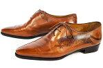 ベルルッティアレッサンドロタイガータトゥー虎ビジネスシューズレザーメンズシューズ♯8(26.5cm位)ブラウンヴェネチアカーフレザーメンズ靴本物ランクA!!