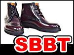 ベルルッティビジネスシューズレースアップブーツ♯7(25.5cm位)ワインレッド×ブラックメンズレザーシューズ靴カリグラフィー本物未使用
