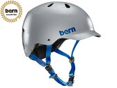 バーン bern - WATTS ワッツ SATIN GREY BE-BM25BSGRY ツヤありグレー 灰 自転車 スケートボード BMX ピスト ヘルメット 【smtb-m】