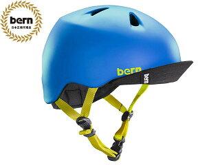 バーンbern-NINOニノ(Visor付)MatteBlackBlockprintVJBMBBVツヤ消し黒×緑自転車スケートボードBMXピストヘルメット
