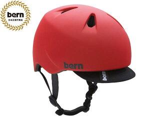 バーンbern-NINOニノ(Visor付)MatteRedBE-VJBMRV赤×黒自転車スケートボードBMXピストヘルメット
