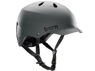 バーンbern-WATTSワッツMatteGreyBE-VM5GG灰×黒自転車スケートボードBMXピストヘルメット