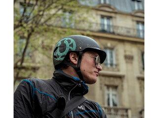 バーンbern-WATTSワッツMATTEGREYBLUEHATSTYLEBE-VM5MBLH灰×青自転車スケートボードBMXピストヘルメット