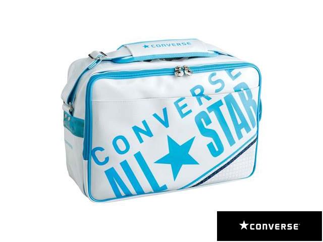 【国内正規品】 CONVERSE コンバース C1612052 8F エナメルショルダーバッグ L リュック バックパック デイパック マルチスポーツ ホワイト/サックス