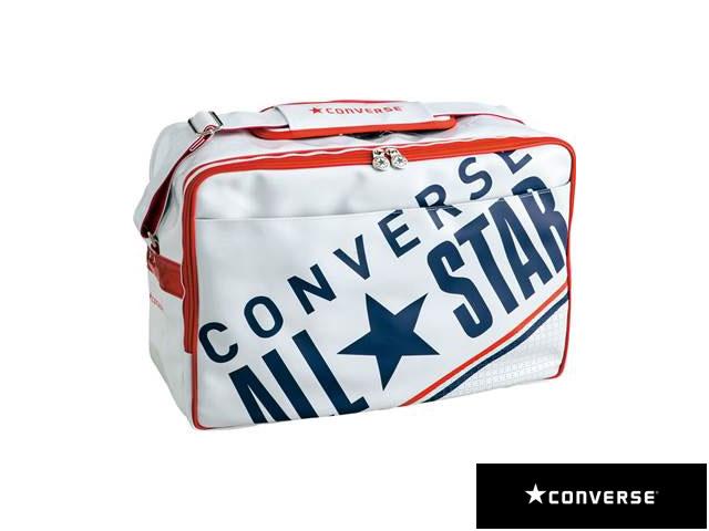 【国内正規品】 CONVERSE コンバース C1612052 8F エナメルショルダーバッグ L リュック バックパック デイパック マルチスポーツ ホワイト/ネイビー