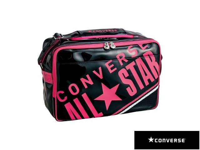 【国内正規品】 CONVERSE コンバース C1612052 8F エナメルショルダーバッグ L リュック バックパック デイパック マルチスポーツ ブラック/ピンク