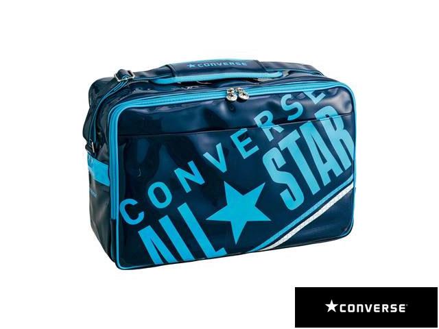 【国内正規品】 CONVERSE コンバース C1612052 8F エナメルショルダーバッグ L リュック バックパック デイパック マルチスポーツ ネイビー/Bブルー
