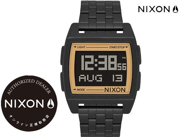 腕時計, 男女兼用腕時計  NIXON Base 38mm All BlackGold WATCH A11071031-00