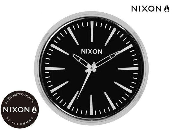 国内正規品ニクソンNIXONセンチュリーウォールクロック壁掛け時計SentryWallClockBLACK黒時計WATCHc30