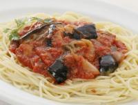 『代引不可』茄子のトマトソース 5個セット上品な酸味と甘さのバランスが良い本場イタリアントマトを使い、2時間じっくりと煮込み、香り深いソースに仕上 げた特製トマトソースです。味付けはレストランと同じ仕様です。【HLS_DU】【RCP】【軽税】