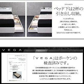 棚・コンセント付き収納ベッド【VEGA】ヴェガ