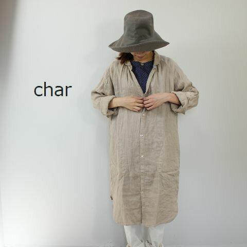 char(チャー) リネンWガーゼシャツ ワンピース ch-059d299