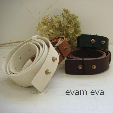 10/17 10:00 - 10/19 13:59 evam eva(エヴァムエヴァ)leather belt(wide) 4colo...