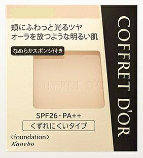 Kanebo COFFRET D'OR kanebokofuredorubyutiorapakuto UV refiru#黄褐色-D SPF26/PA++(粉餅)