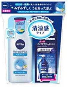 花王尼維亞恢復精力加Aqua水分身體凝膠(200ml)+奶油關懷沐浴露(試用品)