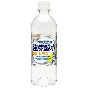 【24本セット♪】 サンガリア 伊賀の天然水 強炭酸水 レモン (500ml×24本入)