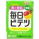 【A】 アイクレオ 毎日ビテツ (美鉄) フルーツミックス 紙パック (100ml) 鉄 亜鉛 葉酸 栄養機能食品