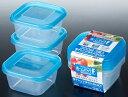 【scb※】ホームパック F (300mL×3P) K300-3 ブルー 電子レンジOK 冷凍保存可 保存容器 日本製 【O】