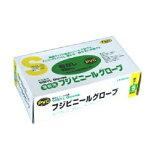 【※】 業務用 フジ ビニールグローブ 粉なし ホワイト S (100枚入)