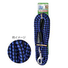 【J】 ターキー DSペットプラス リード15青黒 大型犬用