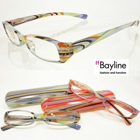 【SALE】 リーディンググラス 老眼鏡 マーブル模様 フレーム ケース付き ラインストーン