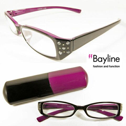 Bayline (ベイライン) リーディンググラス ラインストーン バイカラーデザイン[D] 老眼鏡 おしゃれ 御洒落 女性 あす楽対応 全国定形外郵便送料無料