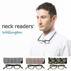 Bayline 『neck readers』 ネックリーダーズ ウェリントン (コンパクトに持ち運べるケース付!) 機能性を追求した新感覚リーディンググラス(老眼鏡) 【あす楽対応】【楽ギフ_包装選択】 PCメガネ 老眼鏡 ベイライン ブルーライト 10P01Mar15