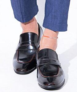 フェイクレザーペニーローファー/全3色【あす楽対応】【靴 メンズ ローファー フェイクレザー 30代 40代 50代 60代】