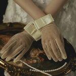 ブライダルグローブショート花嫁手袋上品gloveパールウェディンググローブ結婚式ショート手袋二次会パーティー手袋優雅挙式グローブショート可愛い透け感撮影道具