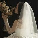 ウェディングベール 二重ベール 欧米スタイル 結婚式 披露宴 シンプル 高級感 シャンパンゴールド セミロング 手作りベール ベールダウン ベールアップ ふんわり 優雅 立体感 ビンテージ 海外撮影 旅行結婚 撮影道具 1