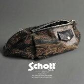 Schott 公式通販   レザーライダースボディバッグTIGER CAMO RIDERS BODY BAG【送料無料】