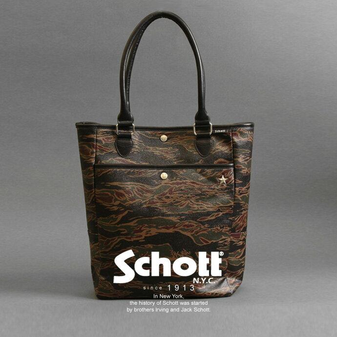 Schott 公式通販 | レザートートバッグTIGER CAMO TOTE BAG:Schott