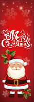 クリスマスのぼり旗MerryChristmasサンタクロース