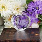 クリスタル ダイヤハート オーダーメイド 写真加工 彫刻 カラー印刷 ブライダル ウェディング 結婚祝い 結婚記念 出産祝い 還暦祝い 記念 ギフト 【売れ筋】 【オススメ商品】