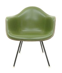 -Eames Herman Miller original green naugahyde armshell Chair herman miller Eames Armshell
