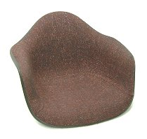 And Eames Herman Miller Burgundy fabric armshell Chair herman miller Eames Armshell