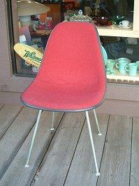 -Eames Eames Herman Miller red fabric side shell herman miller