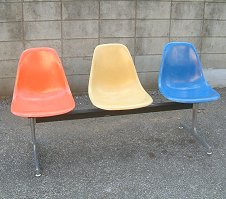 Eames Eames Herman Miller airport bench 3-herman miller