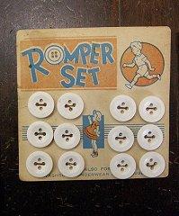 Kids button ♦ vintage button Romper set