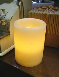 Is safe with LED candles battery operated warm shimmer size S