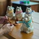 MK Tresmer Polar Bear Money Box マフラー付き (シロクマ 貯金箱)