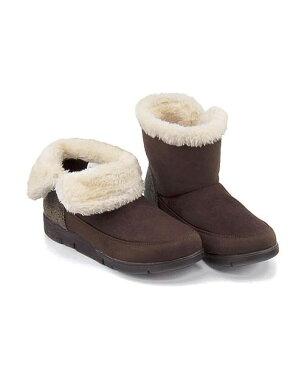 ボアブーツ ぺたんこ 痛くない 歩きやすい 疲れない レディース クッション性 屈曲性 防水 雨 雪 靴 美脚 3E カジュアル デイリー トレンド メランジェ melange 788024 ダークブラウン