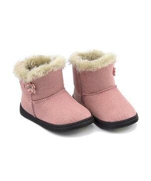 ボアブーツ 女の子 男の子 キッズ ベビー 子供靴 運動靴 通学靴 クッション性 撥水 雨 雪 靴 カジュアル デイリー スポーツ スクール 学校 ノースデイト North Date ME1332 ピンク/スエード