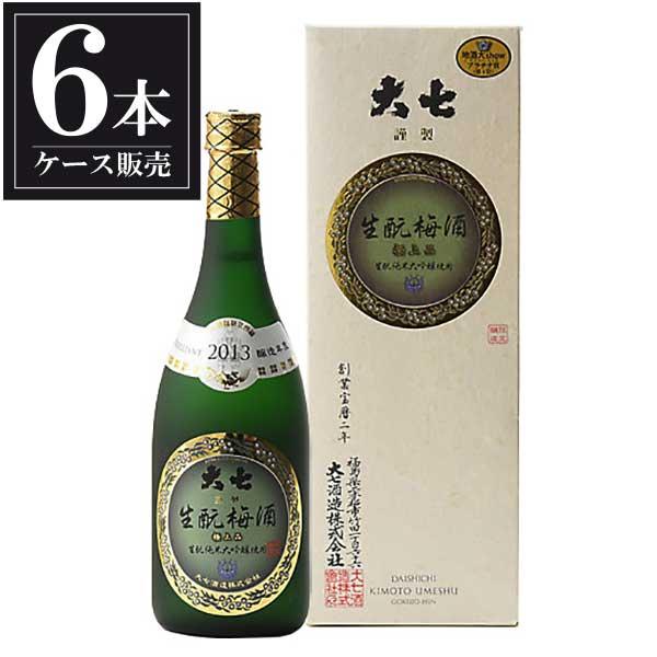 大七 生もと梅酒 極上品 720ml x 6本 [ケース販売] [大七酒造/福島県 ]:リカータイム
