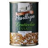 【10%】ポジリポ レンティッキエ(レンズ豆)水煮 [缶] 400g x 24個[ケース販売][モンテ イタリア 野菜(瓶詰) 005087]