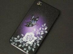 職人の技 iPhone4s / iphone4 エアーブラシカバー一つ一つ手作業で、職人さんが描いた作品で...