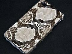 iPhone4s ケース/ iPhone4ケース(softbank/au ) 専用スマホケース【送料無料】天然蛇革 ダイ...