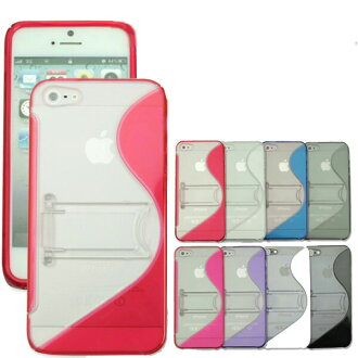 iPhone5s-5 / iPhone5c / Xperia Z (SO-02E) 580 Yen スマホケース industry first TPU and PC 2 color molding wave pattern case new material! TPU soft and tough ( softbank/au/docomo/iPhone case / iPhone / スマホケース / スマホカバー )