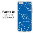 iPhone6s TPU ソフトケース / やわらかカバー【IB922 SOCCER_ピッチ 素材ホワイト】シリコンケ……