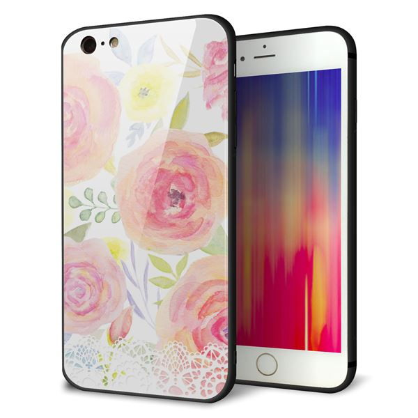 iPhone6sPLUS ケース カバー 背面 ガラス TPU デザイン 【 SC945 ドゥ・パフューム3 】 印刷 光沢 メール便送料無料
